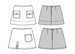 patrons de pantalon jupe et bermuda cours de couture pour les jeunes. Black Bedroom Furniture Sets. Home Design Ideas